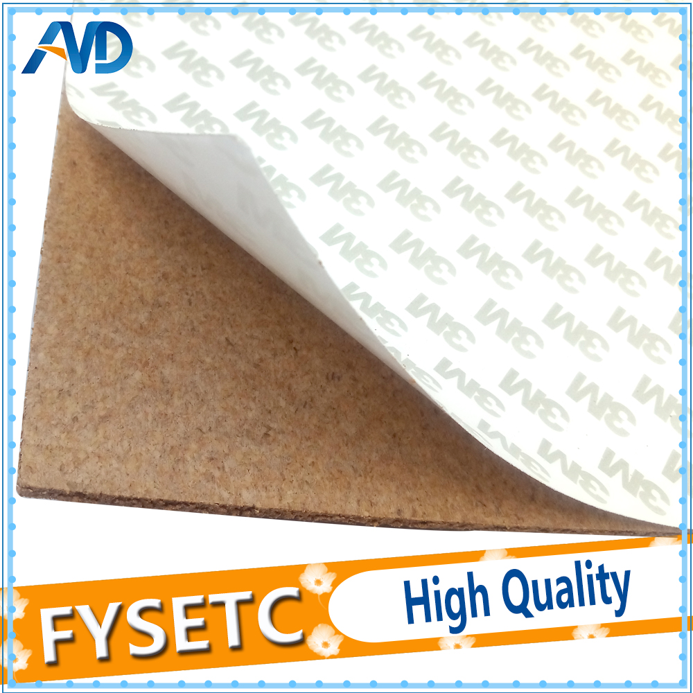 1pc 220x220mm Adhesive Cork Sheets For Wan Hao I3 Anet A3 A6 Ender 5 Heated Bed Hot Plate With Tape Thermal Cork Plate