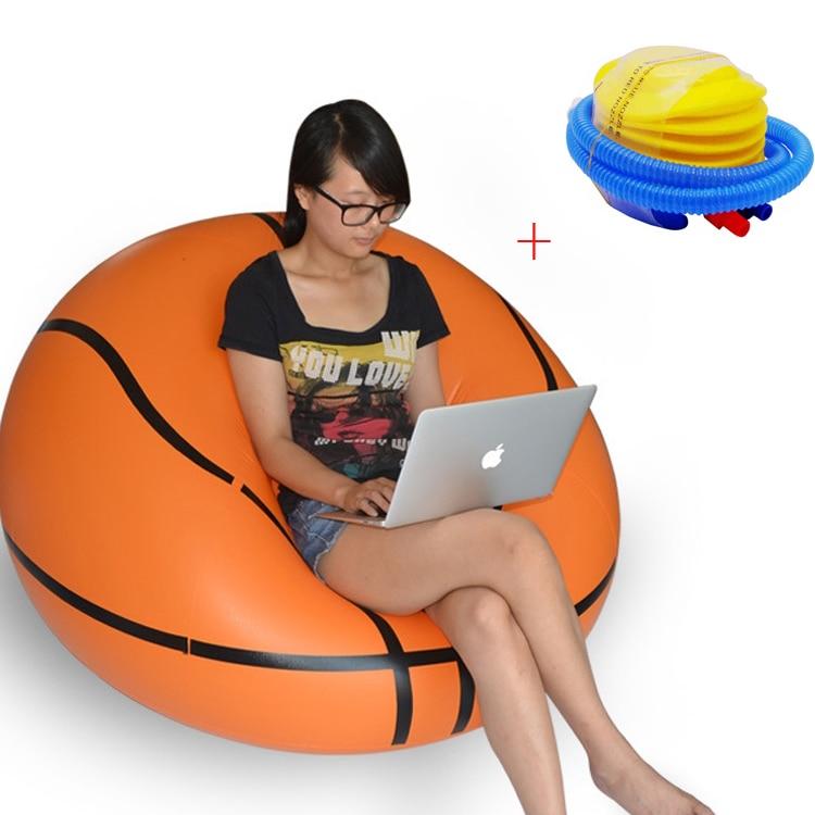 rohová pohovka 3.5 - Fashion Inflatable Sofa Soccar Football Self Bean Bag Chair Portable Outdoor Garden Sofa Living Room Furniture Corner Sofa