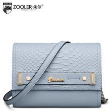 2016 New zooler genuine leather women bag designers brand fashion serpentine quality women leather shoulder messenger chain bag