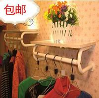 Package mail thickening clothing rack clothing display rack clothes hanger display wall hanging clothes shelf side shelf