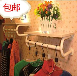 цена Package mail thickening clothing rack clothing display rack clothes hanger display wall hanging clothes shelf side shelf