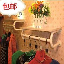 Package mail thickening clothing rack clothing display rack clothes hanger display wall hanging clothes shelf side shelf retro water pipe hanger iron clothing rack clothing shop clothes rack display rack women s shelf floor type display rack