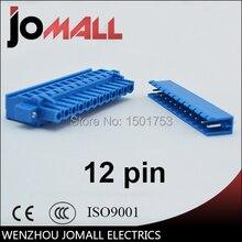 цена на 5.08mm Pitch 12 pin 12 way high quality blue color Terminal Block Plug Connector