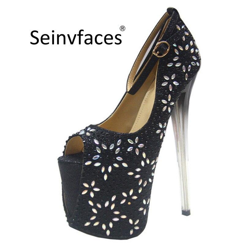 5eca35882 Размер 41, 42, 43, женские пикантные свадебные туфли в стиле ретро,  серебристые, золотые, черные туфли-лодочки с открытым носком на платформе  19 с.