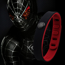 Power Ionics Hero Series Spiderman IDEA BAND 3000 ions Sports Waterproof Titanium Healthy Bracelet Wristband Balance Body(China)