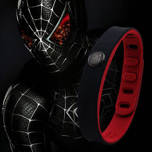 Power Ionics Hero Series Spiderman IDEA BAND 3000 ions Sports Waterproof Titanium Healthy Bracelet Wristband Balance Body