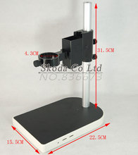 Discount! 40mm Large Adjsutable Stereo Digital Industry Lab Microscope Lens Table Stand Dual Ring Holder