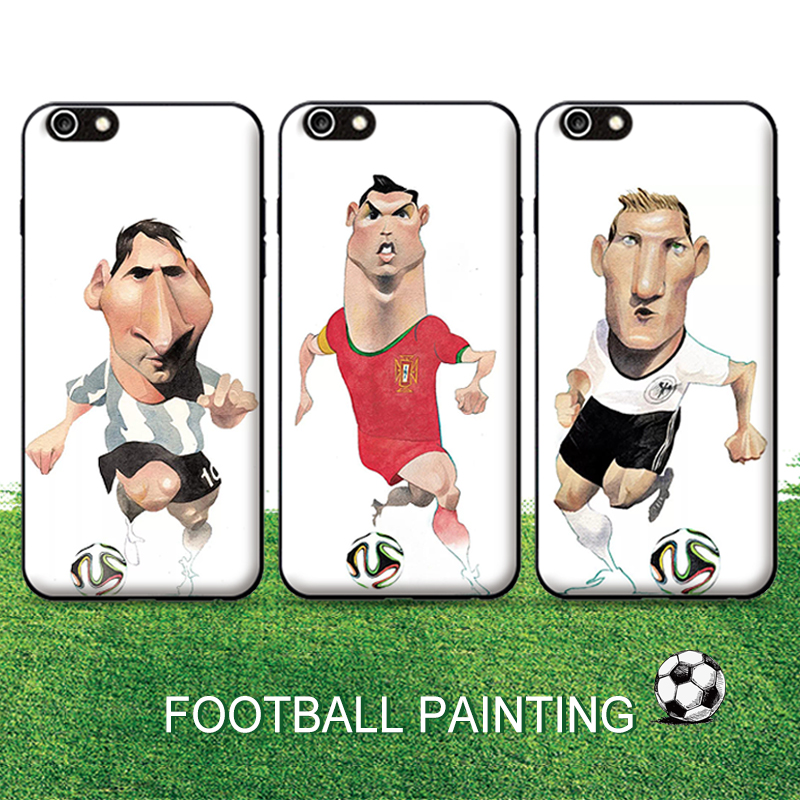Lionel Andres Messi Cristiano Ronaldo CR Neymar Pepe Soccer Football Phone Case For iPhone 5 5s 6 6s 7 plus TPU Silicone PC Case