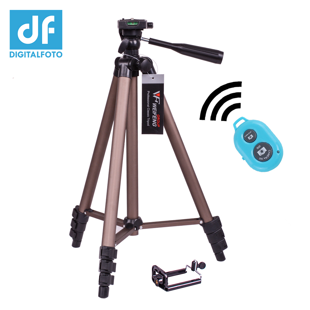 DIGITALFOTO WT3130A Smartphone tripod+Mobile Adapter portable travel DSLR camera tripod with wide lens or shutter control