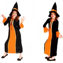 fantasia infantile kids girls witch magician costume fantasia day halloween sorceress cosplay stage performance play