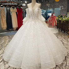 LS12400 sweetheart long tulle sleeves off shoulder bridal wedding dresses  with glitter sexy strapless floor length wedding gown dfba7b5bedfa