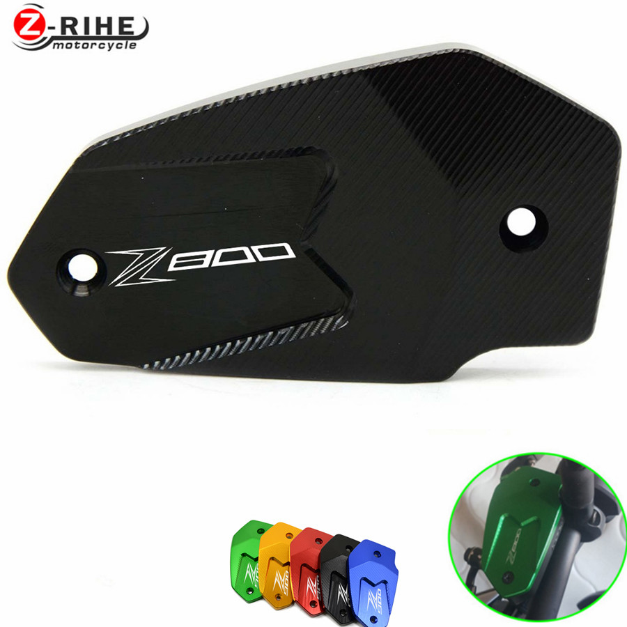 for Hot Motorcycle CNC Brake Fluid Reservoir Cap cover For Kawasaki Z800 Z 800 2013- 2016 ER6N ER6F VERSYS 650 ninja 650 z900 for kawasaki z650 z900 2016 2017 z800 2013 2016 versys 650 2010 2017 motorcycle accessories cnc front brake reservoir cover