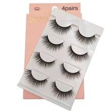 YSDO 4 pairs false lashes natural hair 3d mink long eyelashes fluffy volume makeup dramatic
