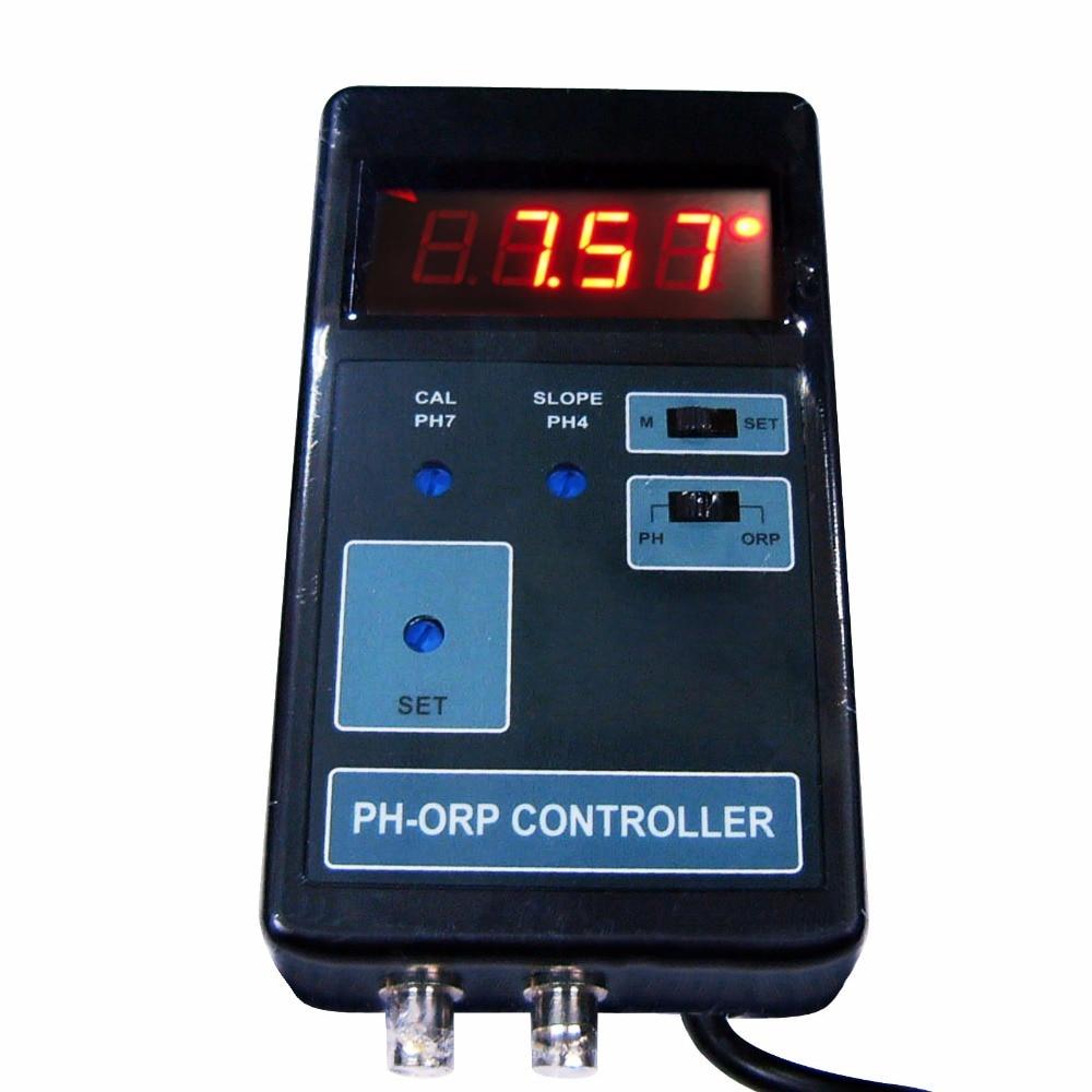 Digital 2-in-1 pH ORP mV CO2 Controller Meter Aquarium Fish Tank 0.00~14.00PH Range + Switched Socket 110V / 220V amt01 waterproof ph orp temperature meter with ph range 2 16 00ph