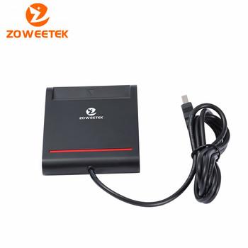 Oryginalny Zoweetek 12026-2 Easy Comm USB EMV czytnik kart inteligentnych Writer dla ISO 7816 EMV Chip Tags + 1 sztuk czytnik kart + 1 sterownik CD tanie i dobre opinie Pojedyncze Karty sm Karty SD ZW-12026-2 Zewnętrzny Black White SIM ATM IC ID Card Genuine 499 PCS in stock