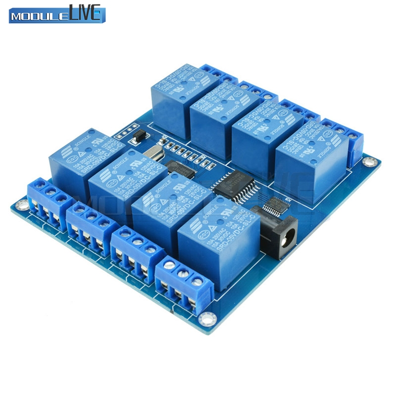 1Pcs DC 5V 10A 8 Channel Micro USB Relay Indicator Board Module PC Upper Computer ICSE014A Software Control 5v 2 channel ir relay shield expansion board for arduino