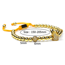 forever crown charms couple Bracelet