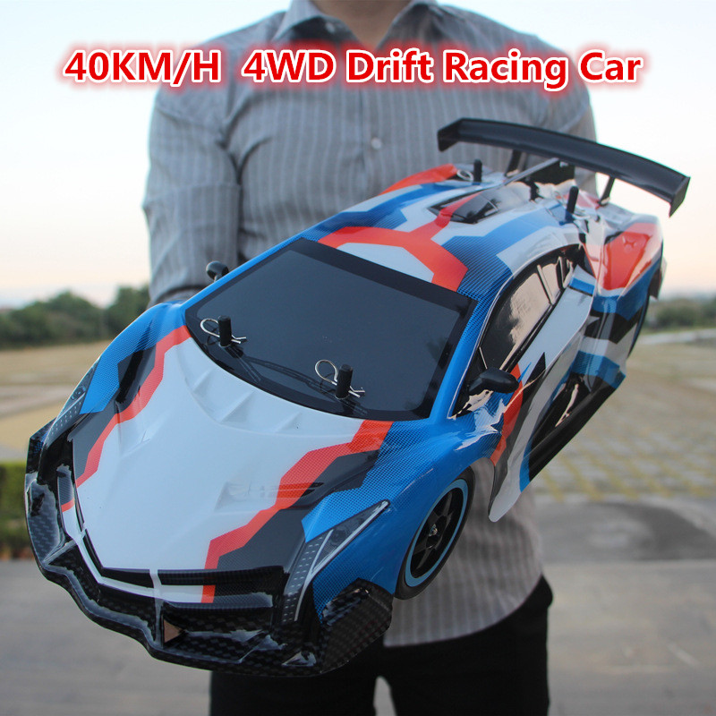 все цены на 2018 1:10 full scale large stunt racing drift RC Car kids toy 4WD14 2.4GHz 4WD drive 40KM/H RC Car Remote Control Toys VS 94166