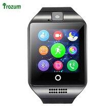 "Q18 TROZUM Original Tarjeta SIM Bluetooth Reloj Inteligente 1.54 ""LCD Salud Gimnasio Rastreador Podómetro Pulsera para iOS Android Teléfono"
