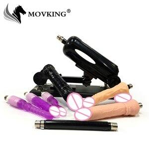 Image 1 - MOVKING Fashion Sex Machine z dużym Dildo elastyczny penis automatyczny pistolet miłości 0 do 120 stopni z regulowanym kątem dorosłych produktów erotycznych
