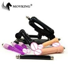 Machine de sexe de mode MOVKING avec gros gode pénis Flexible pistolet damour automatique 0 à 120 degrés Angle réglable produits de sexe adulte