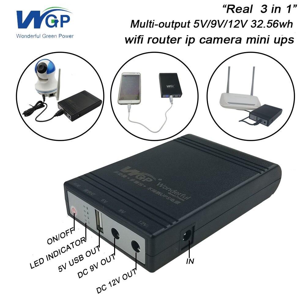 La caméra Ip de routeur de Wifi augmente l'alimentation d'énergie de secours de batterie portative de cc 5 V 9 V 12 V 1A Mini UPS pour la télévision en circuit fermé