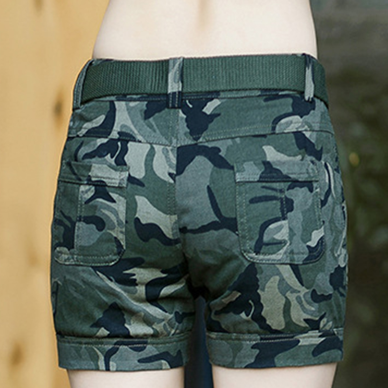 BabYoung Workout Shorts Women Shorts Army Green Military Camouflage - Women's Clothing - Photo 6