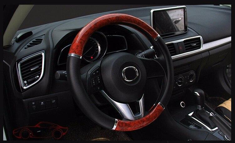 wood-design steering wheel cover
