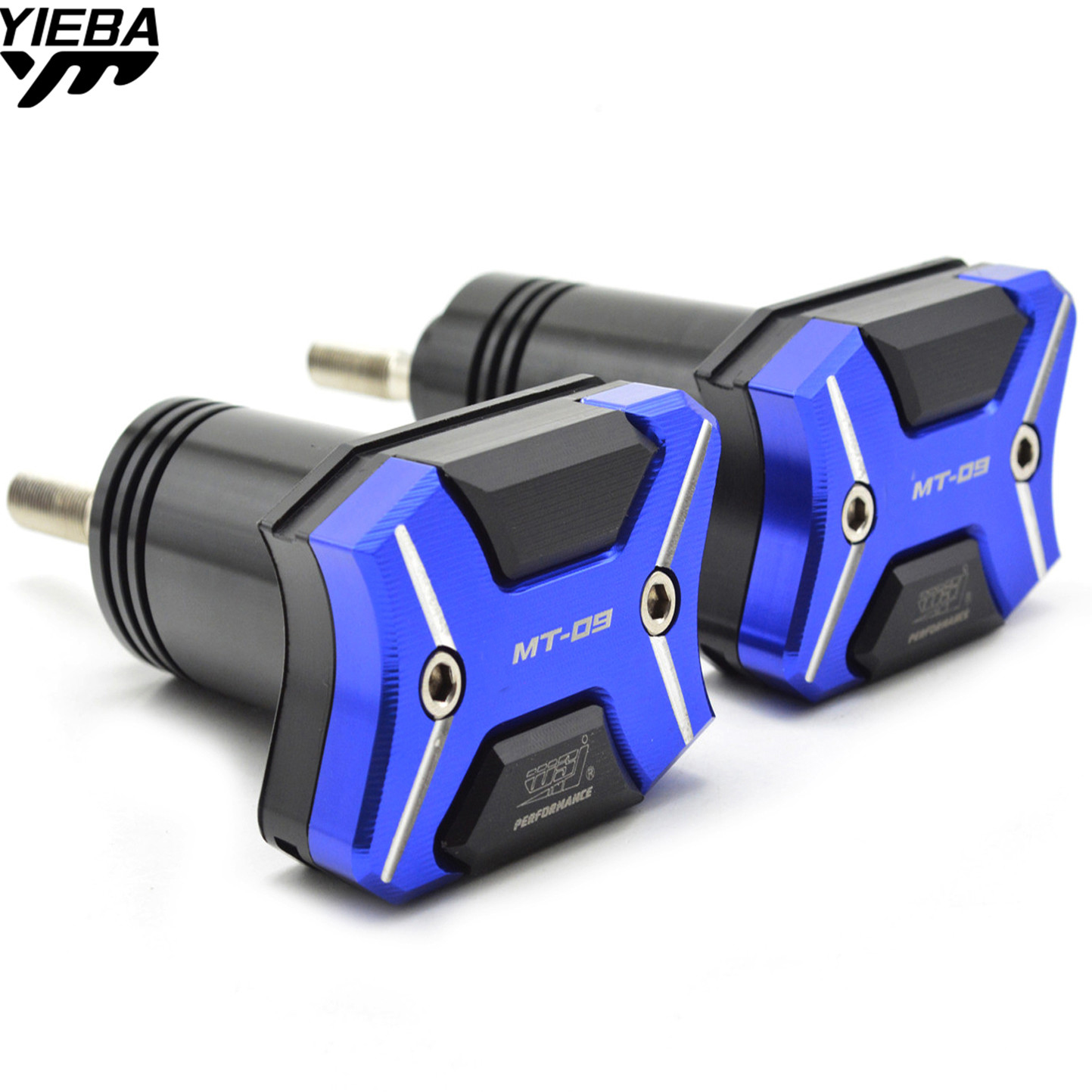with mt-09 LOGO Motorcycle Frame Crash Pads Engine Case Sliders Falling Protector For Yamaha MT-09 MT09 FZ-09 FZ09 2015-2016 engine bumper guard crash bars protector steel for yamaha mt09 mt 09 fz07 fz 09 2014 2016 2014 2015 2016 motorcycle