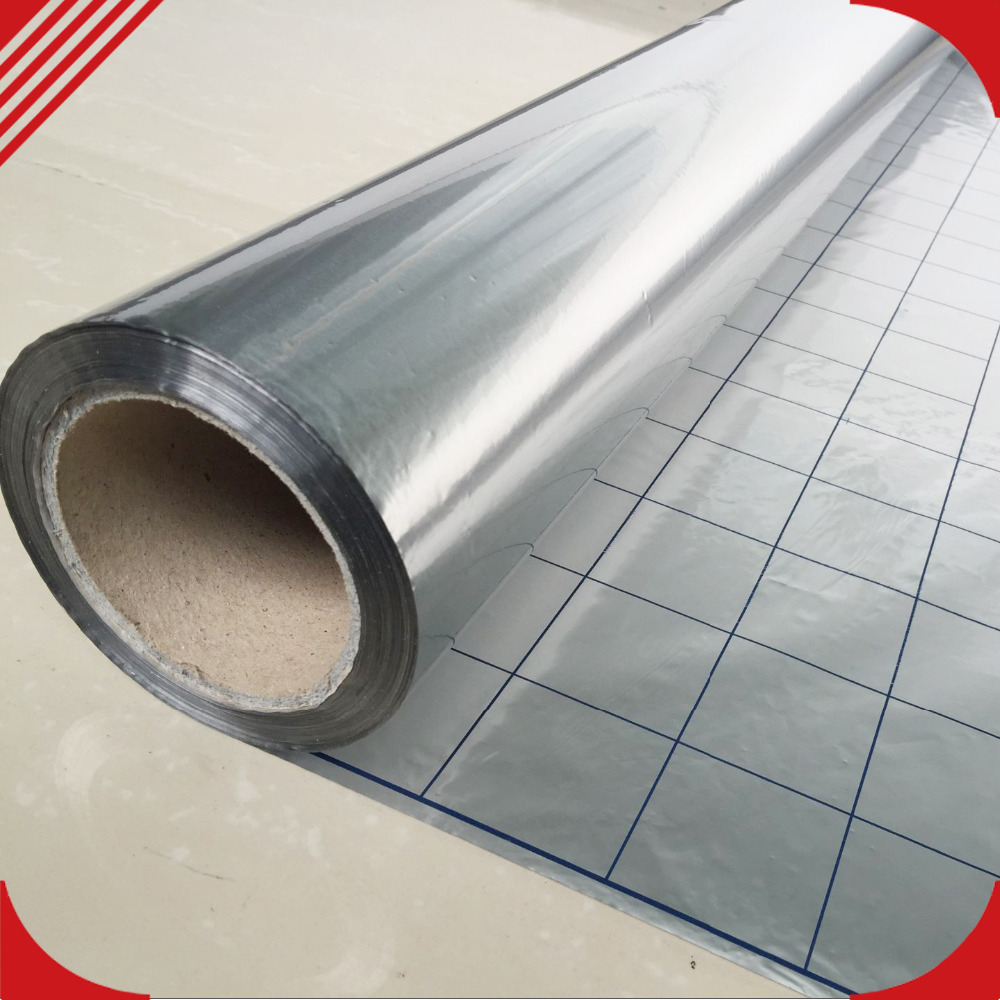 5m2/lot Reflective Film For Electric Underfloor Heating System 4CR Energy Saving Aluminum Foil Insulation Thermal Material