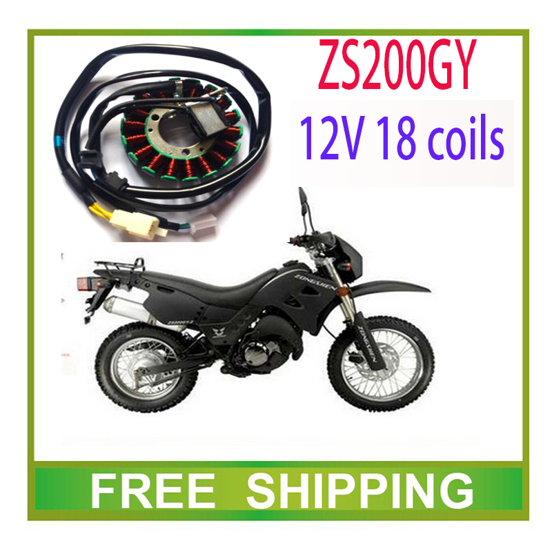 zongshen 200cc 250cc engine stator magneto coil dc 12v 18 coils ZS200GY 250GS LY200 accessories free shipping magneto coil 12v 18 coils 3 2 pins repair water cooled cf188 cf500 18 pole stator utv atv buggy go kart 0180 032000 xq cf500