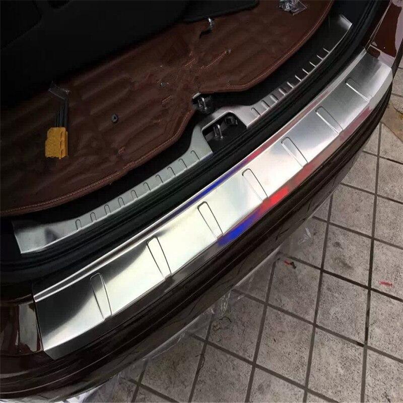 WELKINRY pour Volvo XC60 2015 2016 2017 acier inoxydable arrière boîte de queue pare-chocs porte seuil seuil seuil seuil plaque de seuil pied pédale garniture