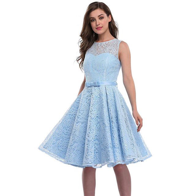 Lace Dresses For Women Stylish Knee Length Dresses Sleeveless ...