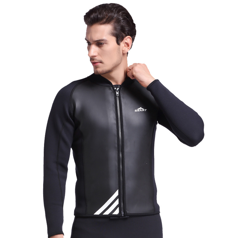 SBART New Arrival 2MM Neoprene Wetsuit Tops Mens Swimming Shirt Long Sleeve Surf Neopreno Rashguard Plus Size XXL L752 sbart upf50 rashguard 939