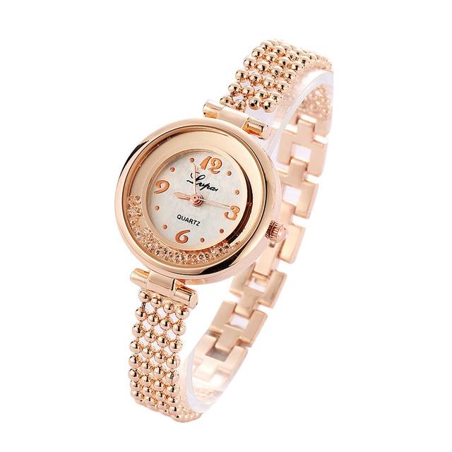 Watch Women Fashion Beaded Alloy Ladies Bracelet Watch For Girl Wrap Dress Quart