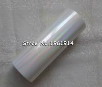 Holographic Foil Plain Transparent Foil Y05 Hot Stamping On Paper Or Plastic 16cm X 120m