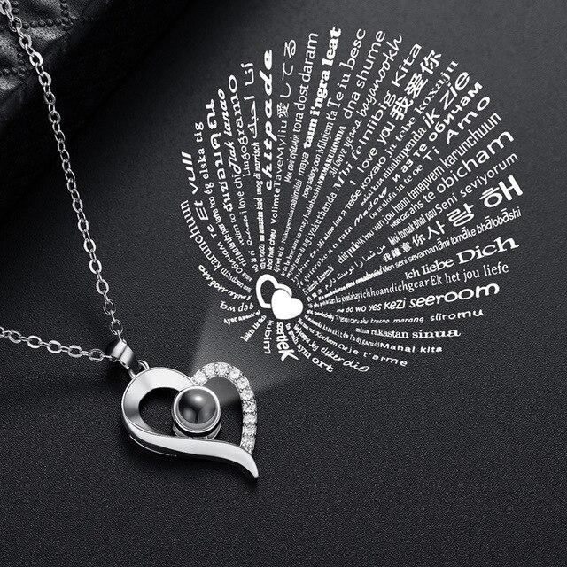 женское ожерелье с кулоном i love you украшение на день рождения фотография