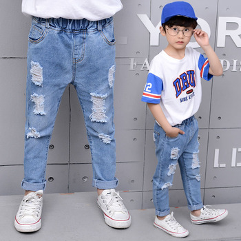 Boys Casual-Style Straight Jeans