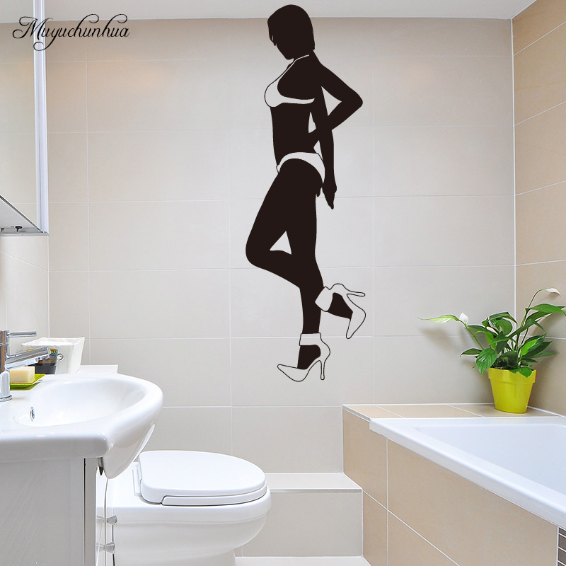 Muyuchunhua Graceful Girl Wall Stickers Home Decor Living Room Removable Vinyl Art Wall Decal Vinilos Decorativos Para Paredes