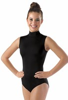 Women S Spandex Sleeveless Turtleneck Leotard Costume Adult Mock Neck Gymnastics Leotards