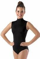 Women S Spandex Sleeveless Turtleneck Leotard Costume Adult Mock Neck Gymnastics Leotards