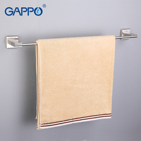 GAPPO 1Set High Quality Wall Mounted Single Towel Bars Towel Holder Hooks Restroom Towel Rack Bathroom