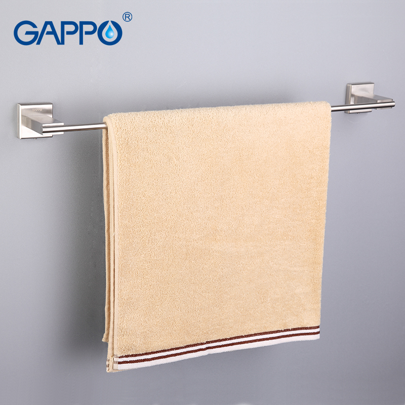 GAPPO 1Set High Quality Wall Mounted Single Towel Bars Towel Holder Hooks Restroom Towel Rack Bathroom Accessories  G1701
