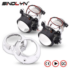 Car Styling 2.5 inches Mini 2.0 D2S HID Bixenon Projector Lens Headlight W/Silver Shrouds Lenses Retrofit H4,Use D2S D2H Bulbs
