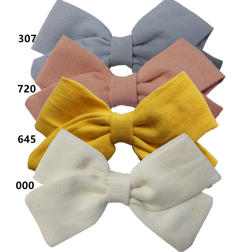 4 PCS Fabric bow Clips Hair bow Hair Clips Hair Barrettes Boutique Cloth Hairbow Hairgrips Kids Girl's   Headwear   Hair Accessories