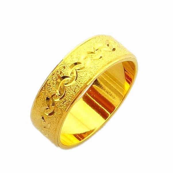 Nouveauté!! Mode 24k GP couleur or hommes et femmes bijoux bague en or jaune bague en or YHDR012
