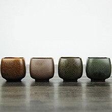 Persönliche Kreative Retro Handgemacht Drinkwasserkocher Taiwan Keramik Groben Keramik Tee-Tasse Kung Fu Teetasse Puer Oolong-Tee Schüssel