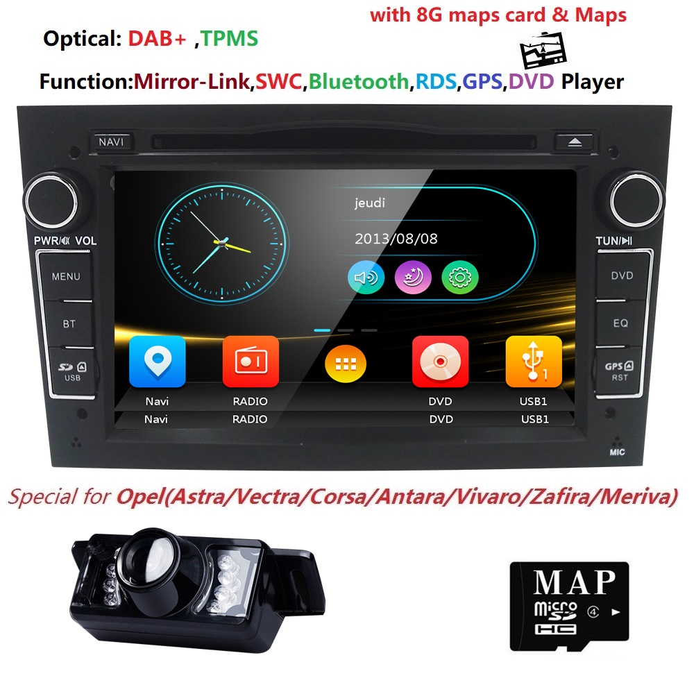 2 din Car DVD Stereo for Vauxhall Opel Astra H G Vectra Antara Zafira Corsa DVD GPS Navi Radio 3 color steering wheel RDS TV CAM