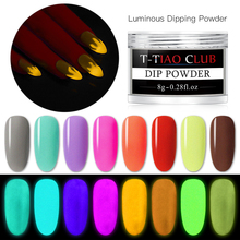 T-TIAO CLUB Nail Glitter Powder Dust Luminous Pigment Fluorescent Light in the Dark Glitters Art Decorations