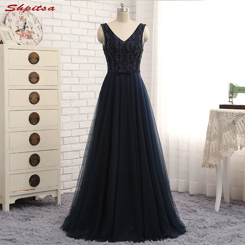 Navy Blue Long Lace Mother of the Bride Dresses Gowns for Weddings Beaded A Line Bridal Formal Godmother Groom Long Dresses
